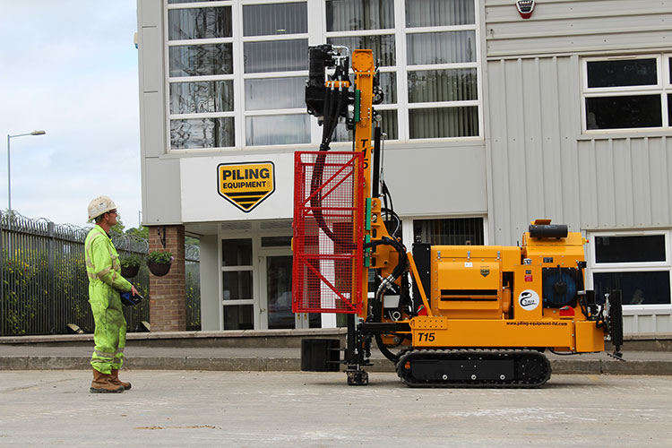 Piling Equipment Ltd engineer with Cobra piling rig